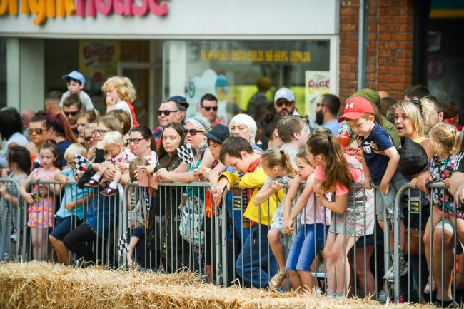 Event: Crowds in Barrow for the Super Soapbox challenge event.