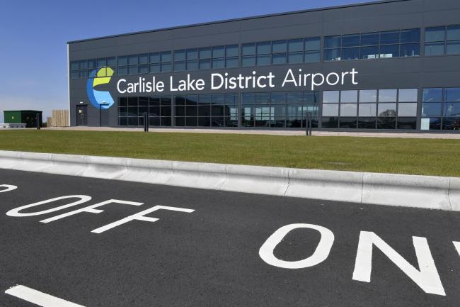 Carlisle Lake District Airport. Commercial flights have been off and on but now are due for take off in July: 16 May 2019.STUART WALKER.