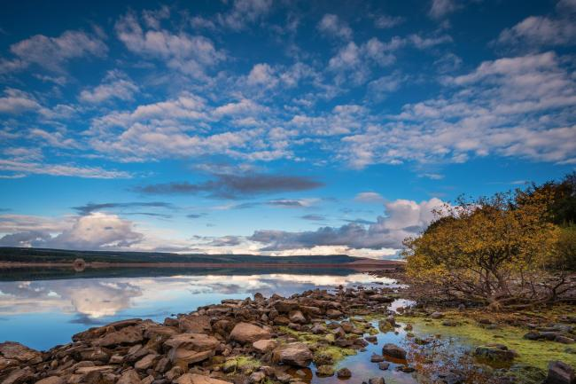 Kielder Water and Forest Park in Northumberland, has the largest man made lake in Northern Europe. The reservoir sits in the North Tyne Valley with the river flowing through it.