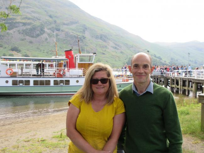 Rachel Bell, of Ullswater 'Steamers' and in-Cumbria Business Awards 2019 judge Phil Davies