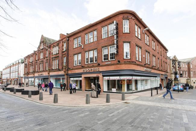 EMPTY SITE: The former Hoopers store in Castle Street, Carlisle, has been bought by Edinburgh Woollen Mill