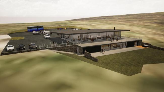 An artist's rendering of what the new Hartside Cafe will look like once work has been completed Ian Cleasby