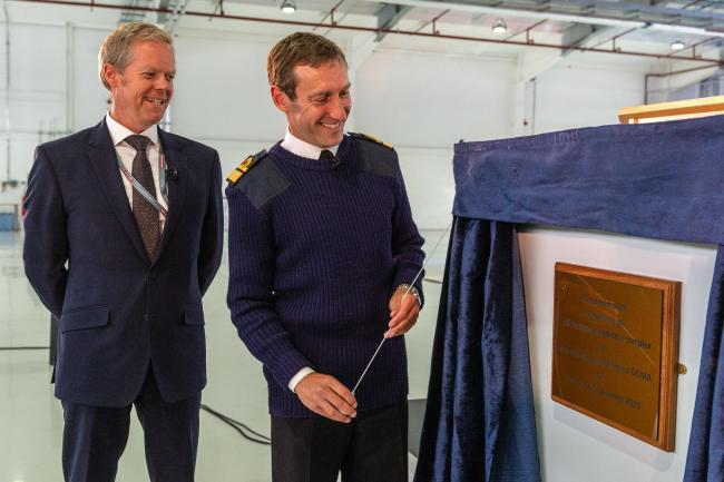 PLAQUE UNVEILING: Steve Cole and rear admiral Paul Methven