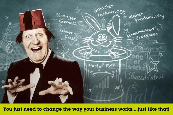 No tricks…you don't need to be a magician to improve productivity