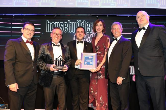 Winner: Charles Church is awarded the title of Best Refurbishment Project at the Housebuilder Awards 2019