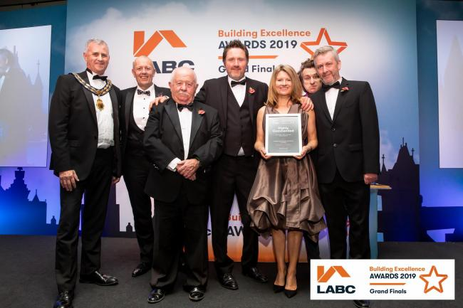 Winners: The team from Maris Properties at the awards