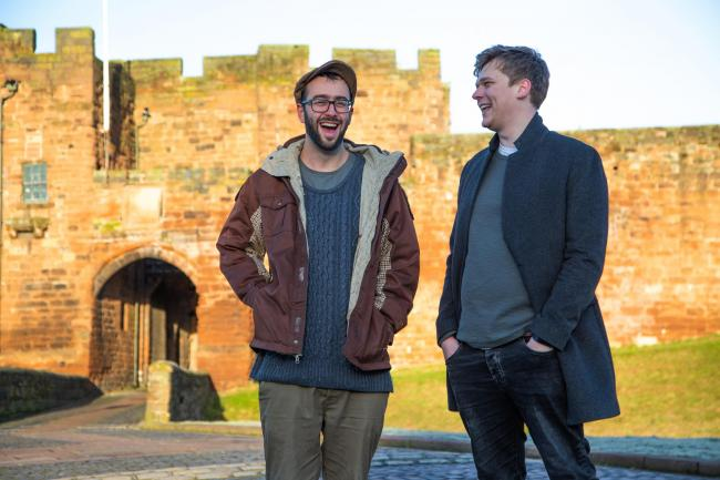 Zach Ord and Sam Mallard are just two examples of Carlisle's creative businesses and both are working with Black Box Security Solutions. Picture: Kirsty McSkeane