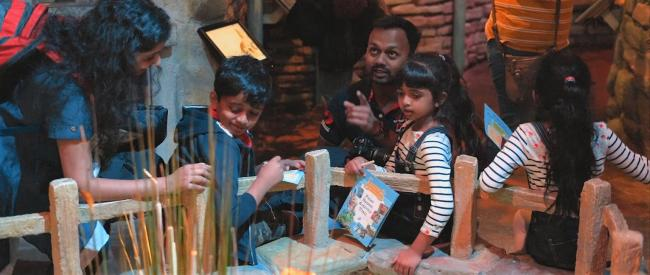 Indian visitors at The World of Beatrix Potter Attraction in Bowness