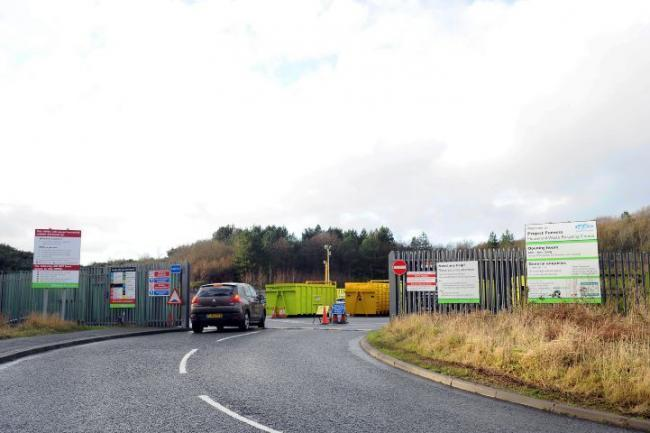The recycling centre in Walney Road, Barrow