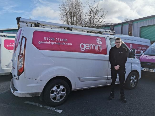 NEW role: Lewis Edmondson has bagged an apprenticeship          Picture: Gemini Communications