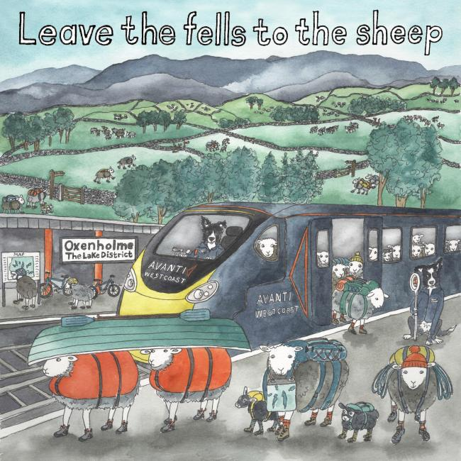 Message: Artist Sophie Martin has asked the public to 'Leave the Fells to the Sheep'