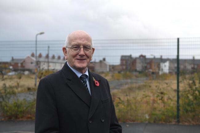 DEVELOPMENT:  Dave Pidduck confirms 58 new homes are soon to be built in Barrow on the Arthur Street site.