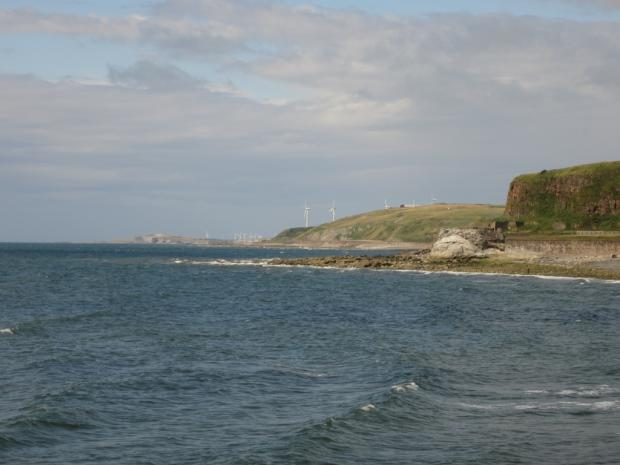 In Cumbria: Views of the Whitehaven coast