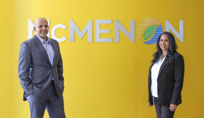 McMenon CEO Anand Puthran and COO, Shiby Bernard. Pic: Lou Crouch
