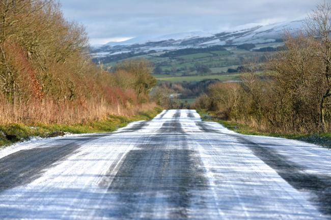 Chaos: Icy roads cause dangerous conditions for drivers in Cumbria