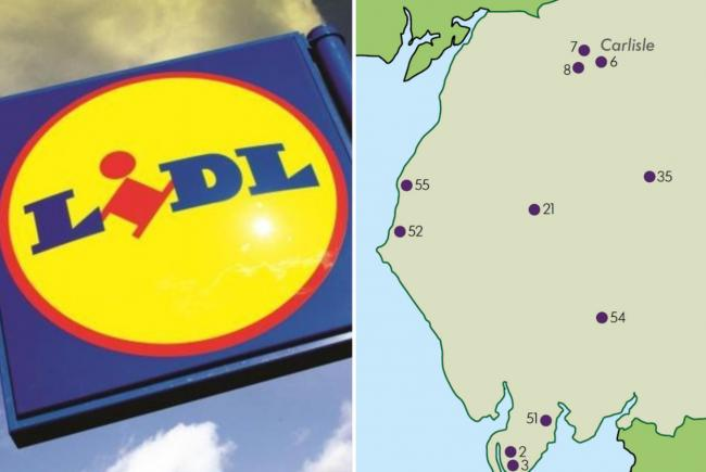 The 11 places where Lidl wants to open new stores in Cumbria
