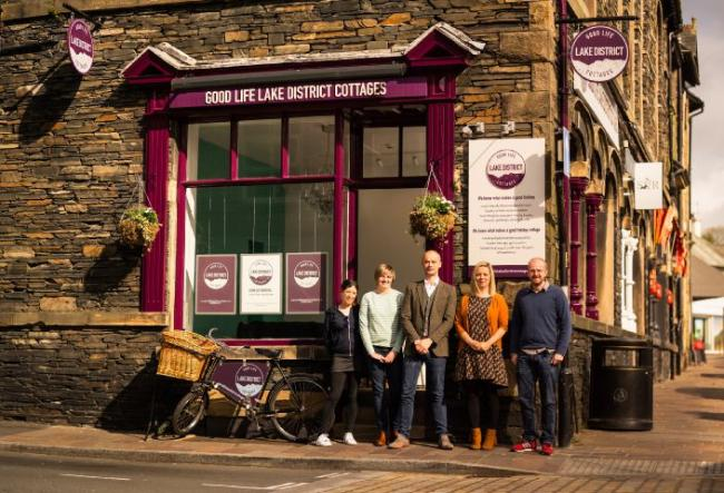Expansion: The Good Life Lake District Cottages team at the new Windermere office