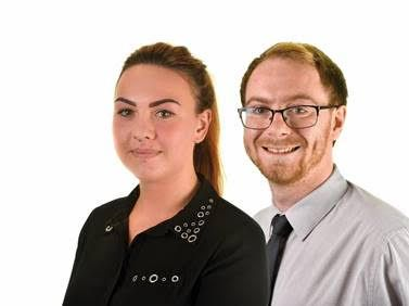 Georgie Robinson and Cameron Johnston, of H&H Insurance Brokers