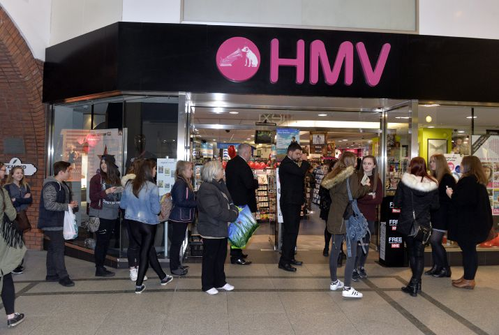 HMV has stores in Carlisle and Workington