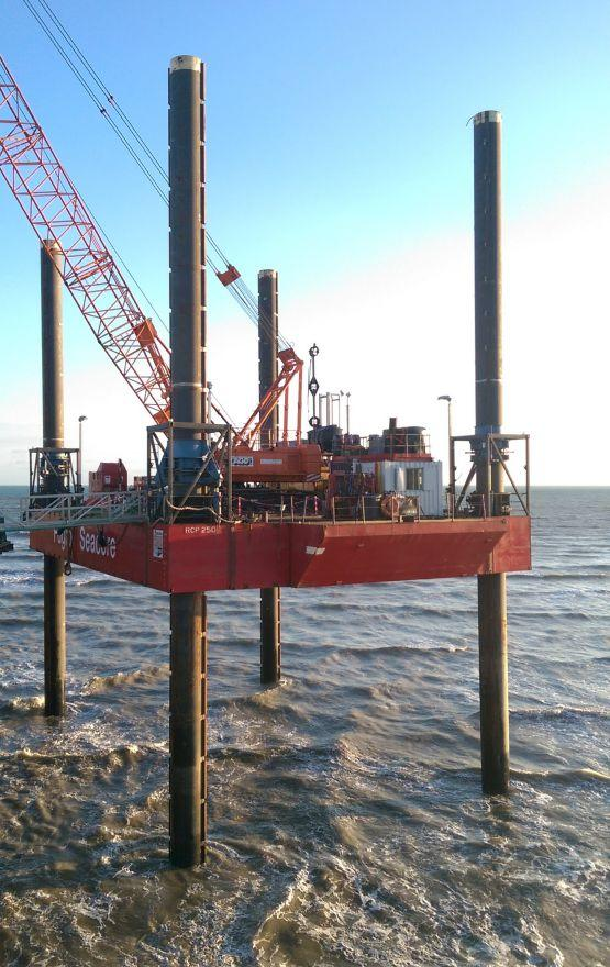 The work will be carried out from a large offshore rig, operated by specialist contractor Fugro