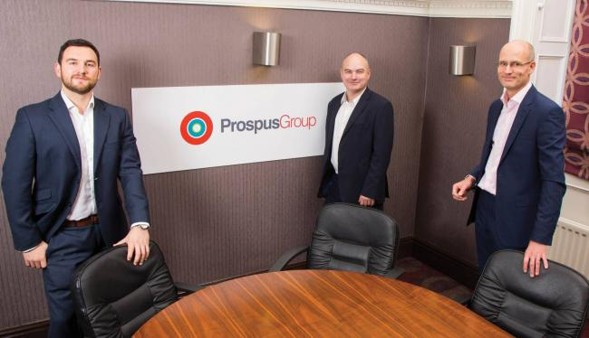 Prospus Group directors Tom Woof, Alistair Fell and Derek Mitchell.