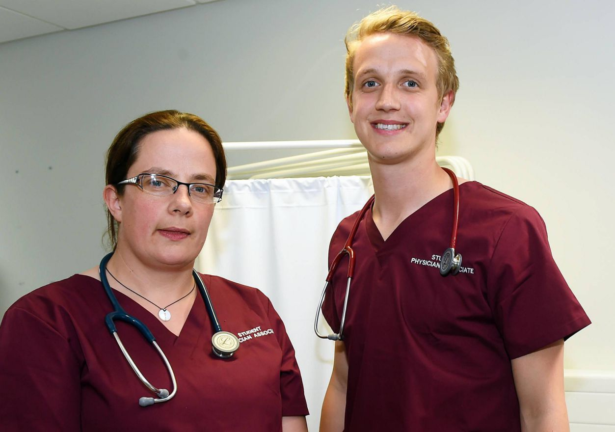 Uclan students Rose Cleeton and Josh Keen