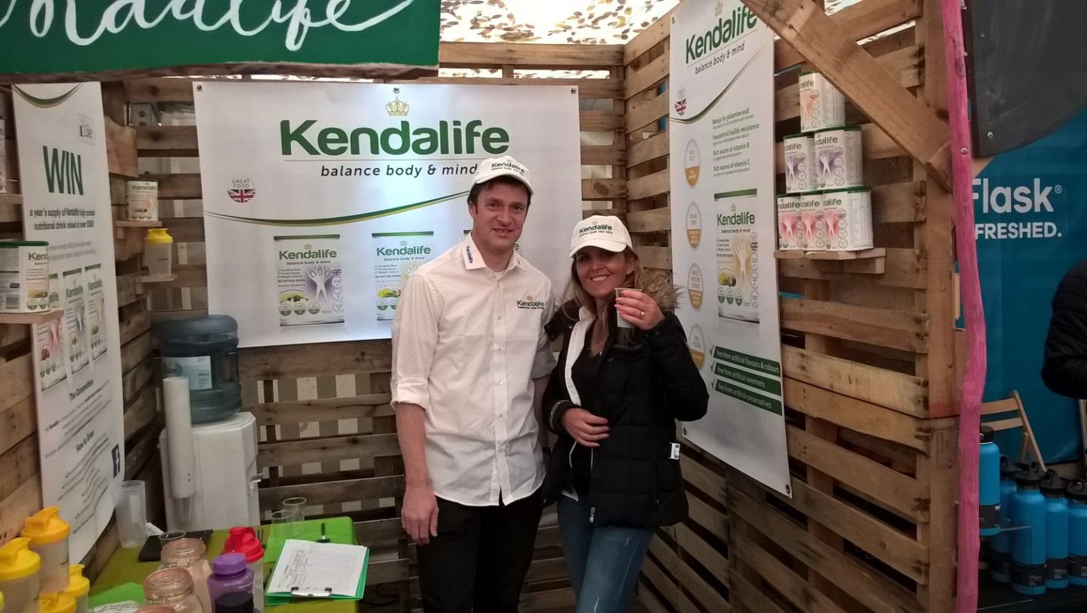 Martin Box and Darina Ward showcasing Kendalife to visitors at the Kendal Mountain Festival.