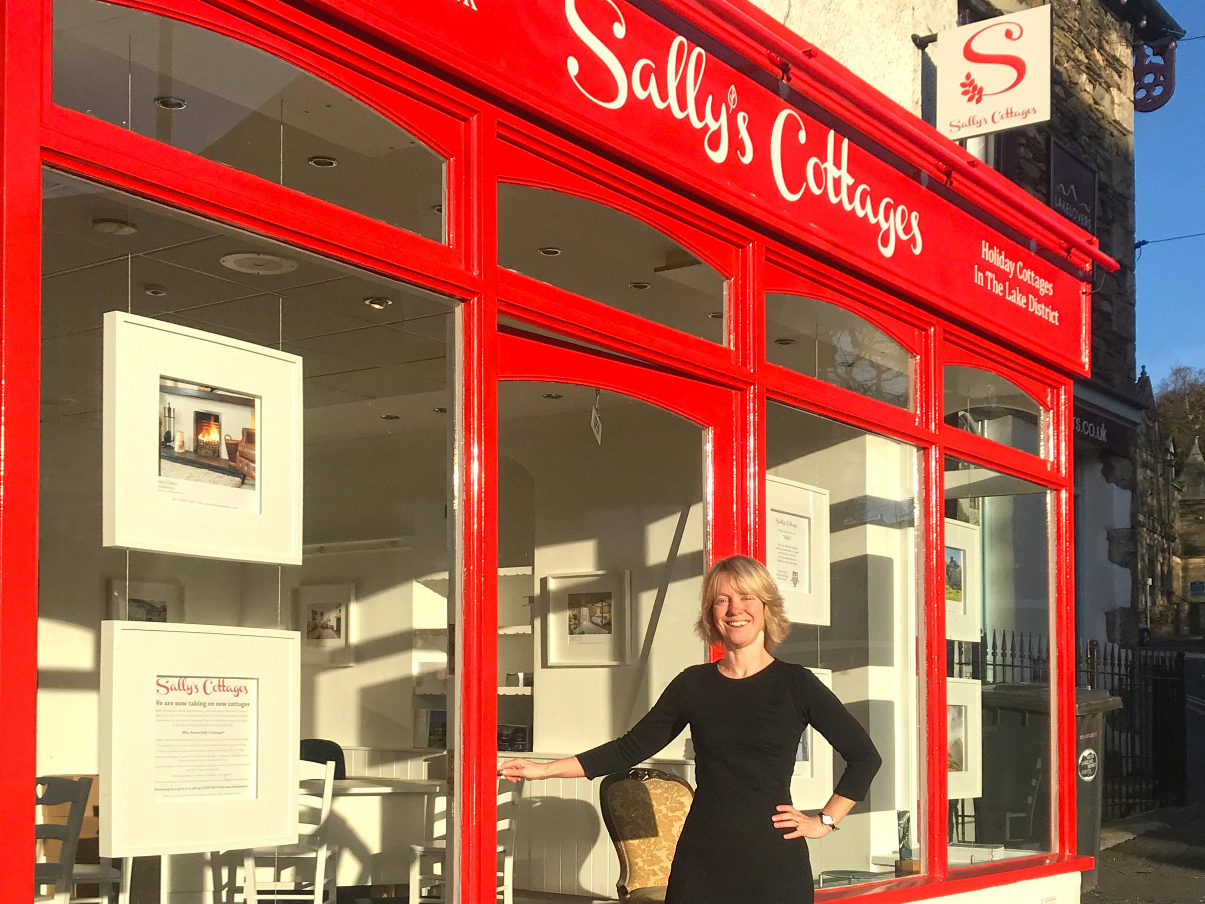 Sally Fielding at the new Windermere offices of Sally's Cottages
