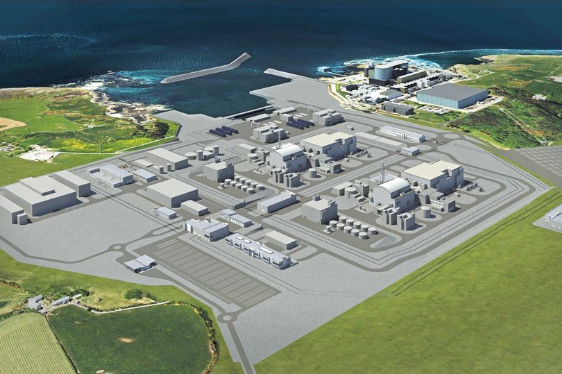 An artist's impression of the planned new Wylfa Newydd nuclear power station