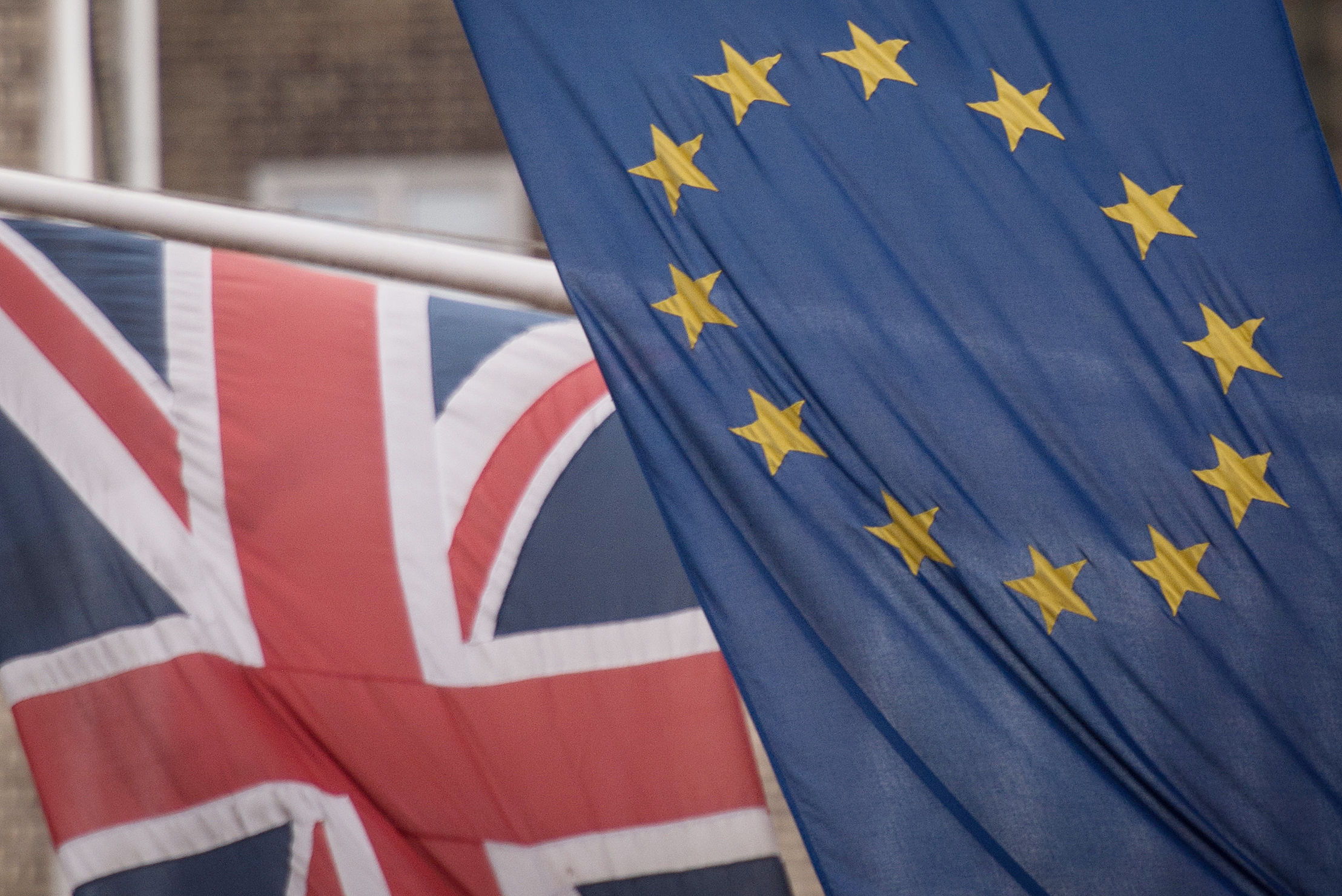 Embargoed to 2230 Sunday February 03File photo dated 17/2/2016 of the EUand Union flags. Downing Street has said senior members of the hardline eurosceptic European Research Group have been drafted in by the Government to help develop an alternative to