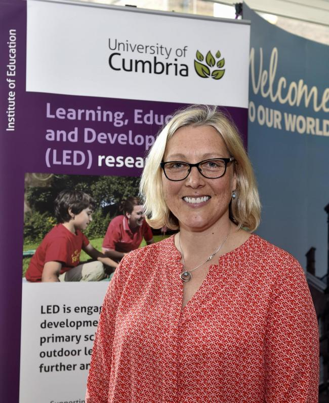 University of Cumbria, Learning Gateway, Fusehill Street Campus, Carlisle, the Being a Child in Cumbria Conference, pictured is UOC associate professor Kaz Stuart, 2 May 2018  LOUISE PORTER.
