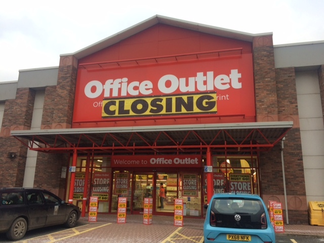 Office Outlet, formerly known as Staples, in Carlisle is closing