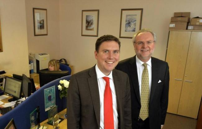 Lamont Pridmore chartered accountants, Lonsdale St, Carlisle. Left to right.  Chris and Graham Lamont   : 23rd January 2015 JONATHAN BECKER 50072800F003.JPG.