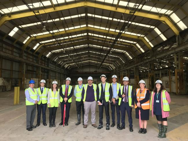 PIC SUBMITTED 13 July 2018 by Sellafield Ltd. A delegation from Heathrow Airport visited West Cumbria today to assess its suitability to host a logistics hub to work on the expansion of the airport..