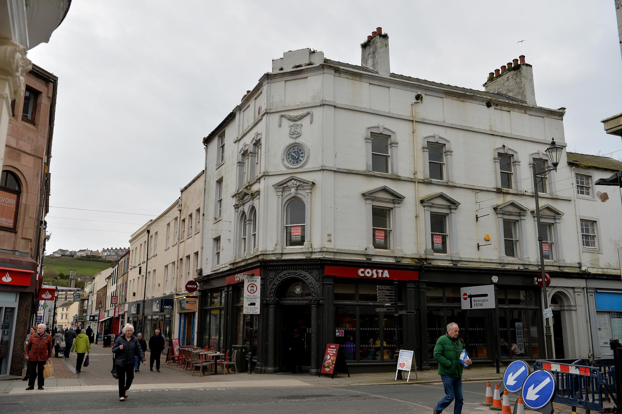 SOLD: The upper floors of the building housing Costa Coffee on Lowther Street in Whitehaven have been sold at auction. TOM KAY