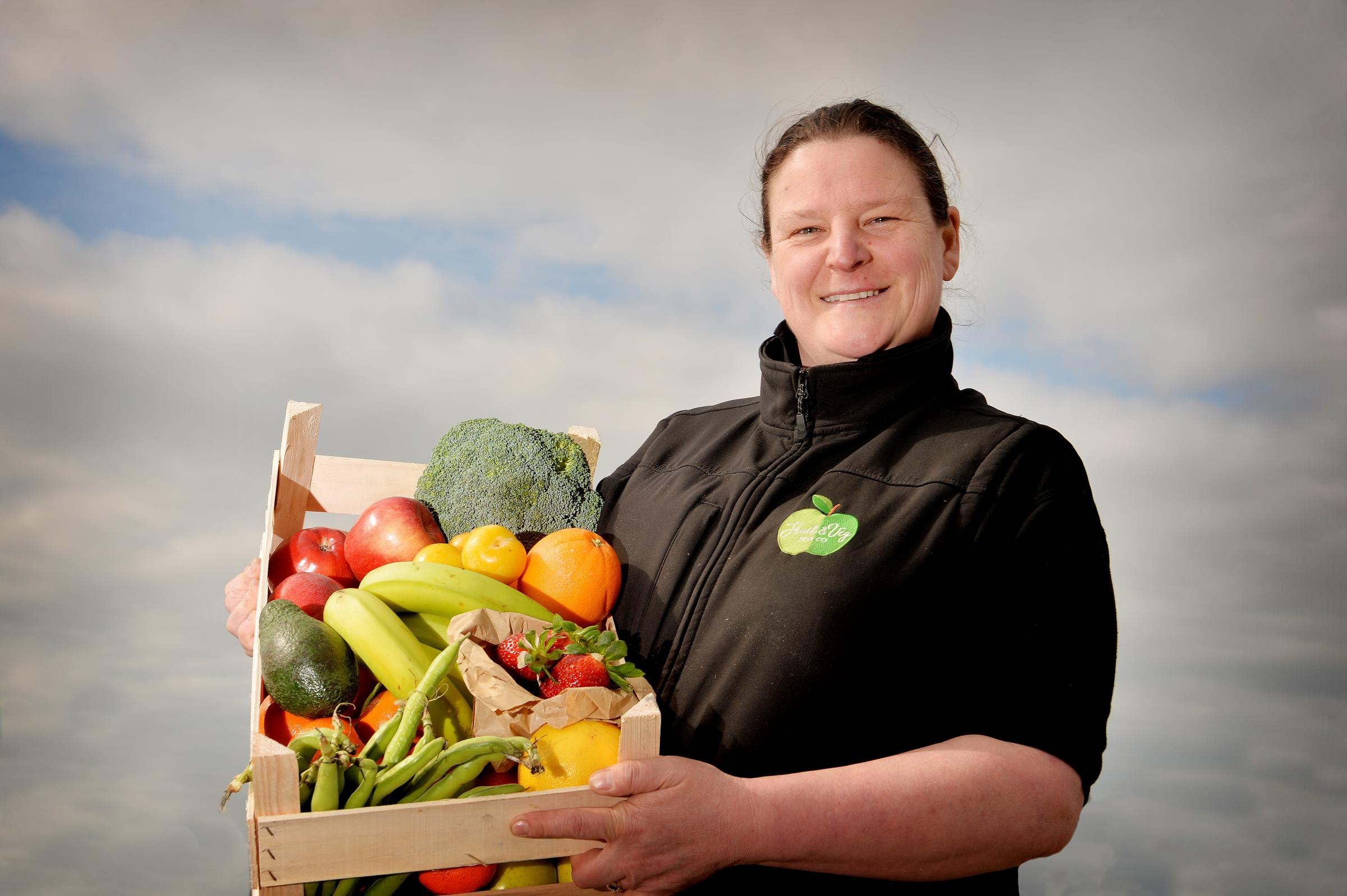 Nicola Myers runs the Fruit & Veg Box Company which does pop up shops accross the county..PHOTO TOM KAY         27 MARCH 2019.............................