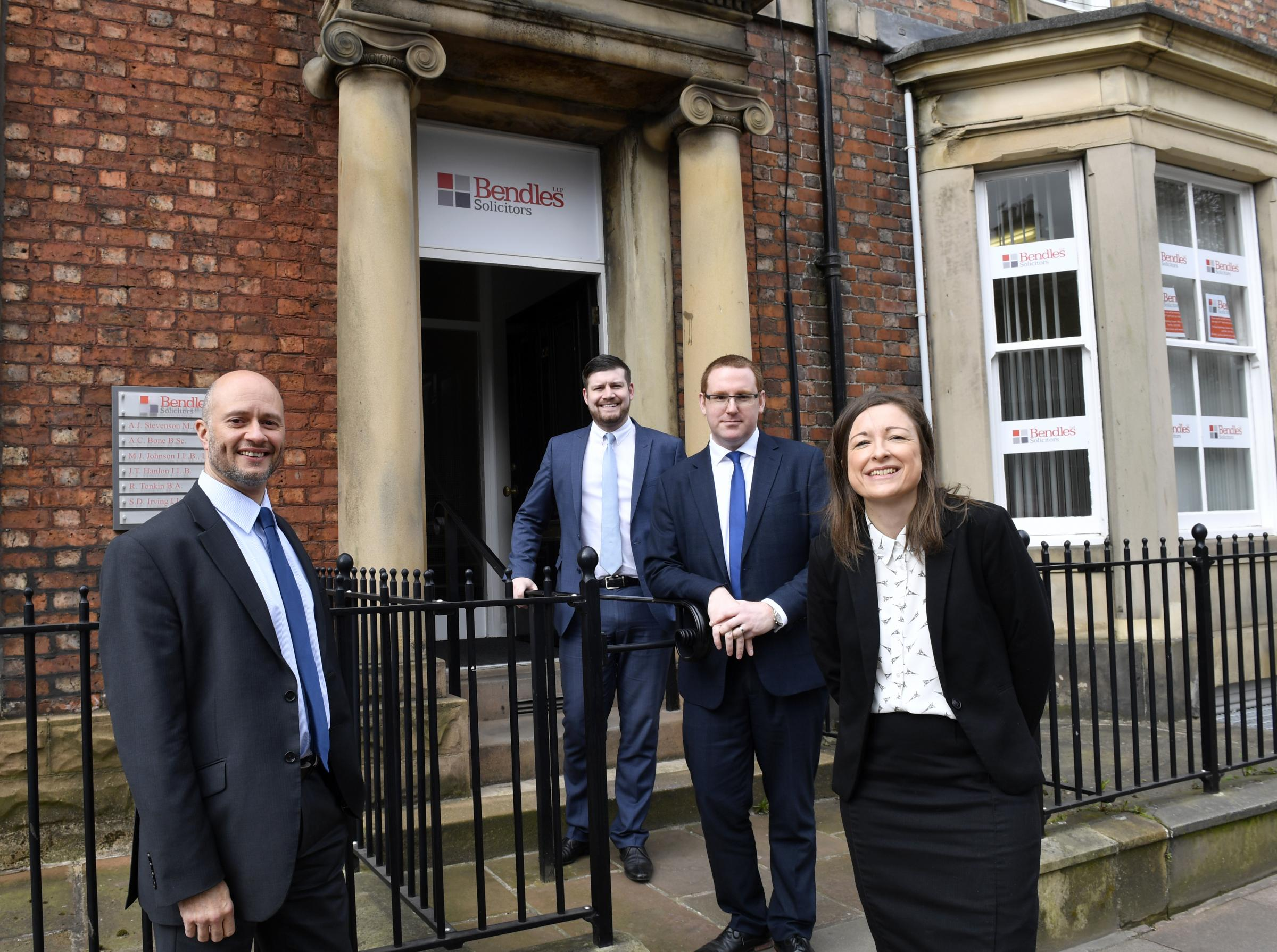 Carlisle legal firm Bendles Solicitors are moving from their Portland Square office to premises at Parkhouse, Kingstown, Carlisle. Michael Johnson, Stuart Irving, Jonty Hanlon and Rebecca Tonkin: