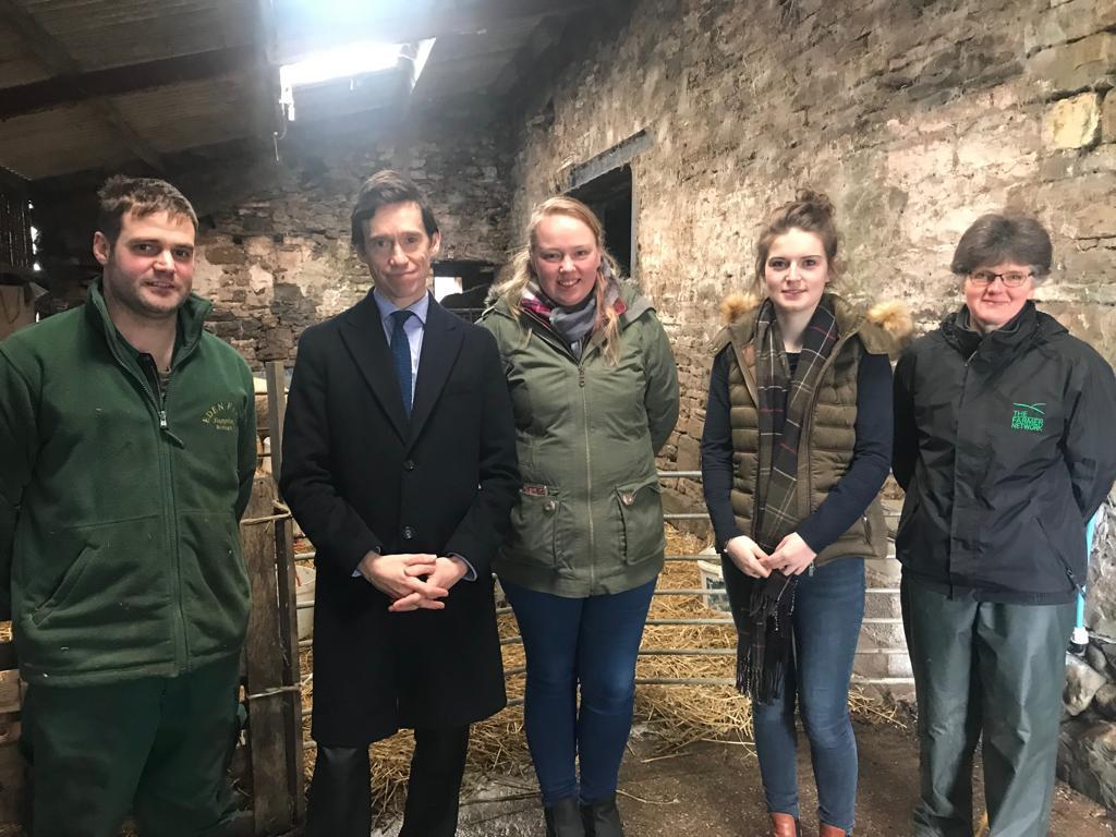 SUPPORT: Rory Stewart meets the young farmers