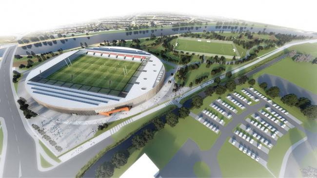 An artist's impression of the new Workington stadium