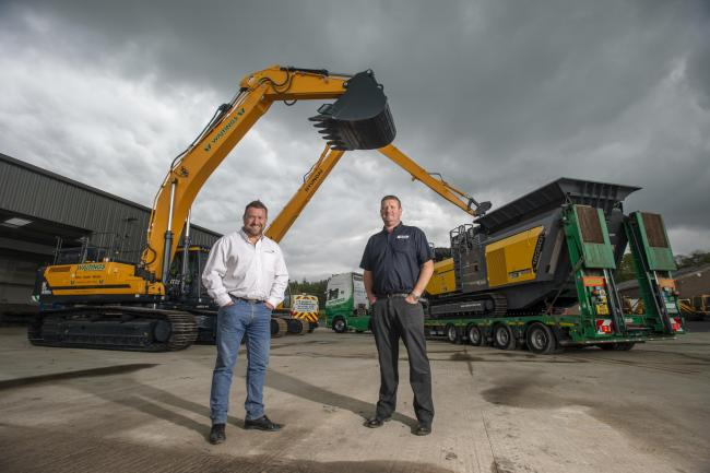 New contract: Adrian Ash, of Waitings Ltd and Ian Burton, of Taylor and Braithwaite 		       Picture: Jonathan Becker