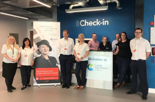 Security and check-in staff undergo training at Carlisle airport