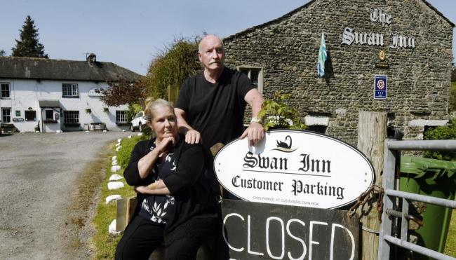 Richard and Lynne Lappin at the Swan Inn
